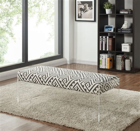white fabric bench lavo 104 black white fabric bench by meridian