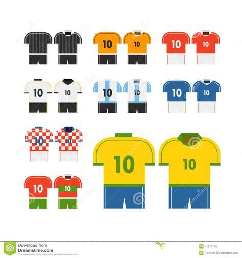 clipart mondo clipart di vettore delle magliette della squadra di calcio