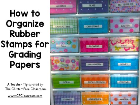rubber sts for teachers free how to organize rubber sts for grading papers clutter
