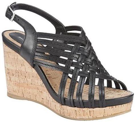 Accept Connie Platform Black lewis connie milan cork wedge platform sandals black in black lyst