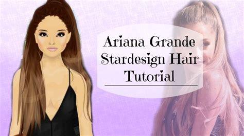 Tutorial Hair Design Stardoll | stardoll ariana grande hair design tutorial youtube