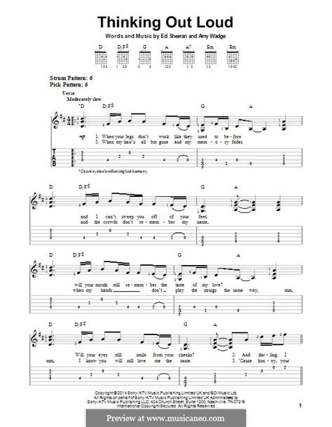 fingerstyle tutorial thinking out loud guitar guitar tabs thinking out loud guitar tabs