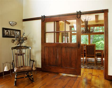 Sliding Barn Doors With Windows Interior Sliding Barn Door Windows And Doors Cleveland By Keim Lumber Company