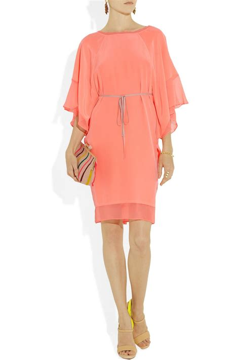 elizabeth and tali silk crepe kaftan dress net a