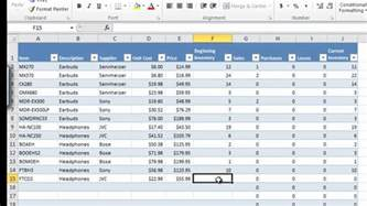 Sales Sheet Excel by How To Manage Inventory With Excel Inventory Tracking