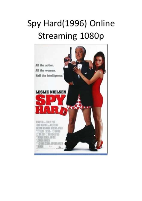 action comedy adventure spy film spy hard 1996 online streaming 1080p best comedy action