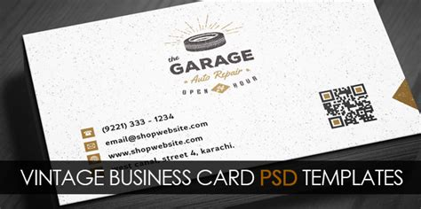 vintage business card template psd free vintage business card psd template freebies