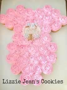 onesie cupcake cake for baby shower www lizziejeanscookies