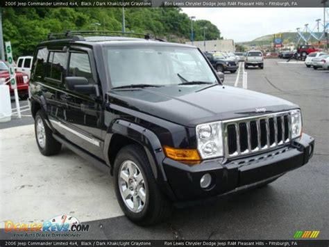 Jeep Commander All Black 2006 Jeep Commander Limited 4x4 Black Khaki Light