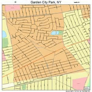 garden city park new york road map ny atlas po ebay