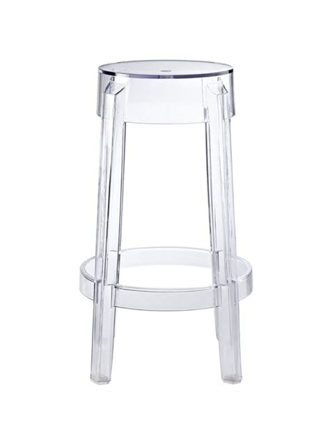 Clear Stool by Clear Counter Stool Brickell Collection Modern Furniture