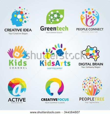kids logo design stock illustration image of childhood logo set logo collection idea logo kids logo collection