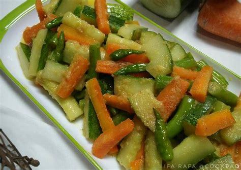 resep acar kuning wortel timun buncis oleh ifa rafa