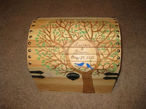 Wedding Card Chest by My Diy Wooden Chest Card Box Weddingbee