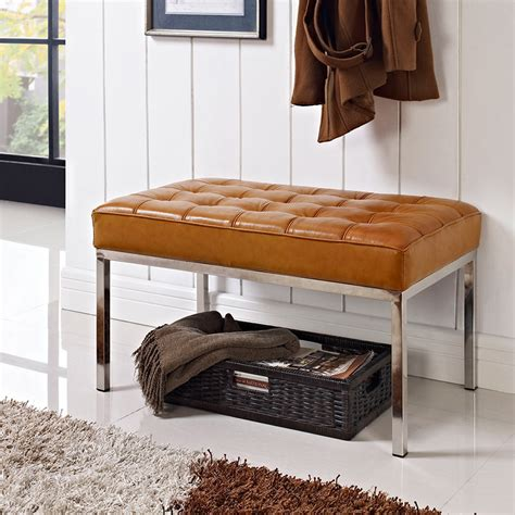 small leather bench modern benches studio small leather bench eurway