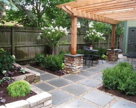 the concrete paver patio design with pergola features large stepping stones in dg pea gravel etc landscape