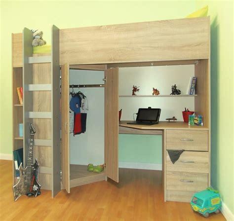 hochbett mit rutsche und schreibtisch hochbett selber bauen mehr als 100 ideen und