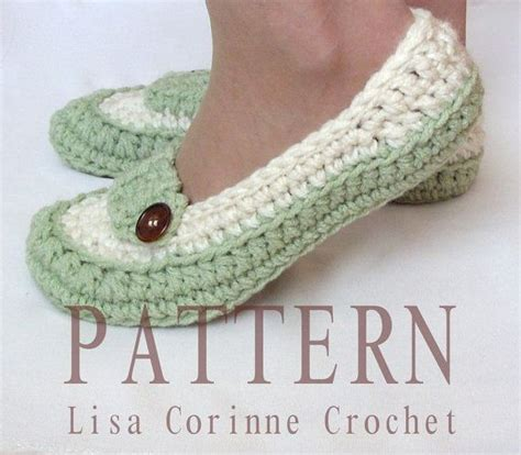 how to crochet slippers womens loafer slippers modern crochet pattern pdf