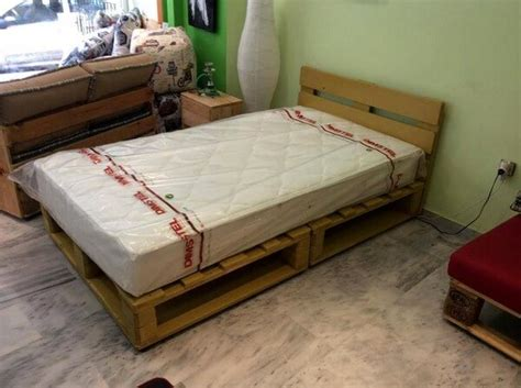 how to make a pallet bed diy beds made out of wooden pallets ideas with pallets