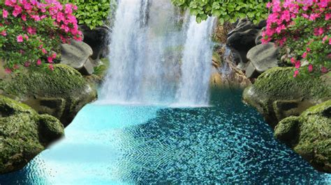beautiful waterfalls with flowers 76 entries in background images of waterfalls