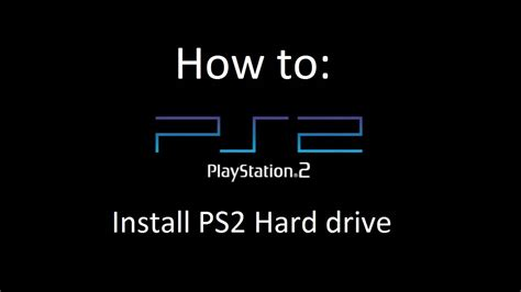 Instal Hardisk Ps2 how to install ps2 ide drive