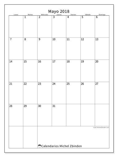 Calendario 2018 Mayo Calendario Para Imprimir Mayo 2018 Antonius Espa 241 A