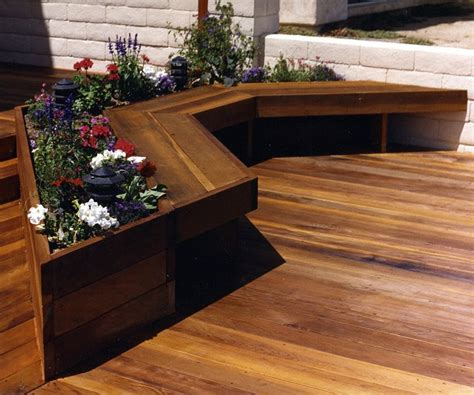 deck planters and benches 31 best deck planters images on pinterest deck planters landscaping and gardening