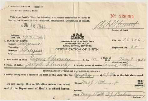 Birth Records Pa 7 Best Images Of Pennsylvania Birth Certificate Template Certificate Form