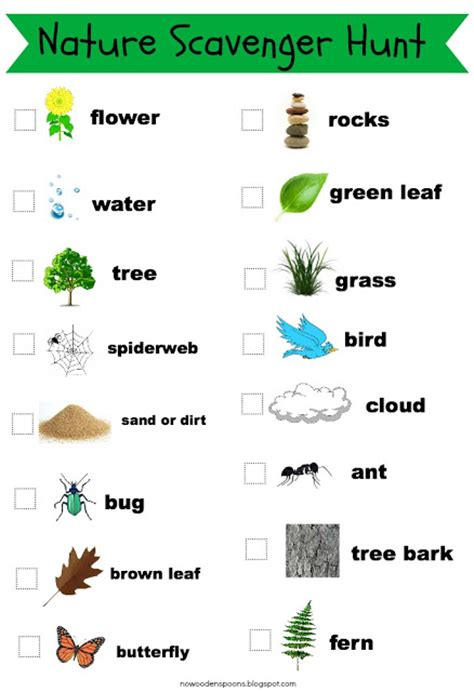 Backyard Scavenger Hunt List by No Wooden Spoons Photo Scavenger Hunt For Free