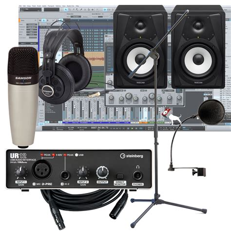 steinberg ur12 interface w tascam vls5 monitors home