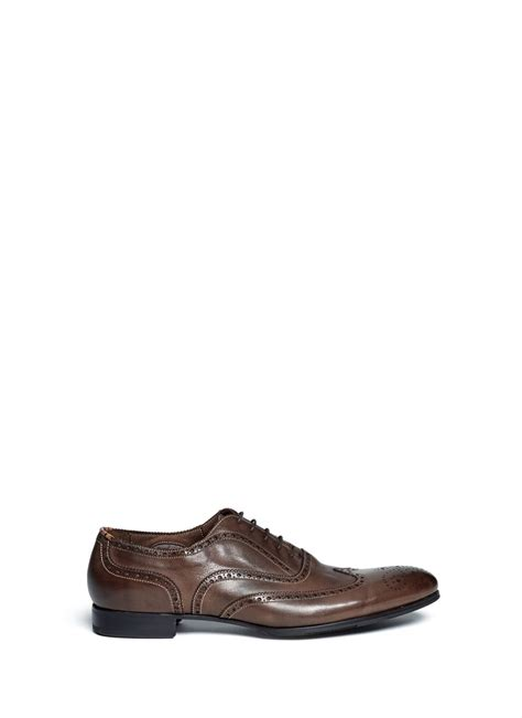 perforated oxford shoes paul smith perforated wingtip burnished leather oxford