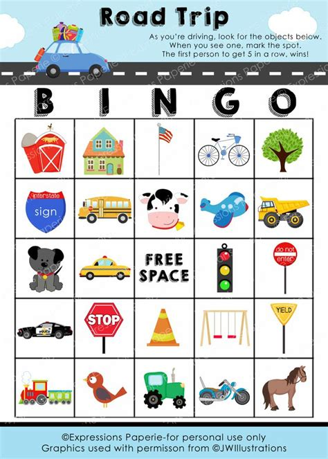 travel bingo card template 7 best images of free printable trip sheets driver trip