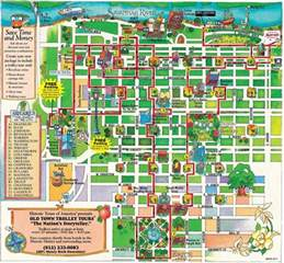 town trolley route map infographic