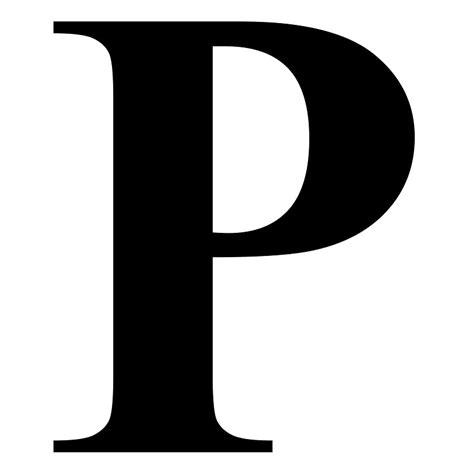 Letter P Fonts - letter of recommendation P