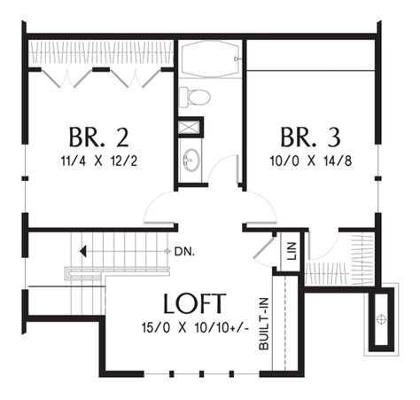Craftsman Bungalow With Open Floor Plan And Loft House Open Floor Plan House Plans Loft