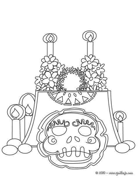dia de los muertos altar coloring pages dibujo para colorear altar con calavera del dia de los
