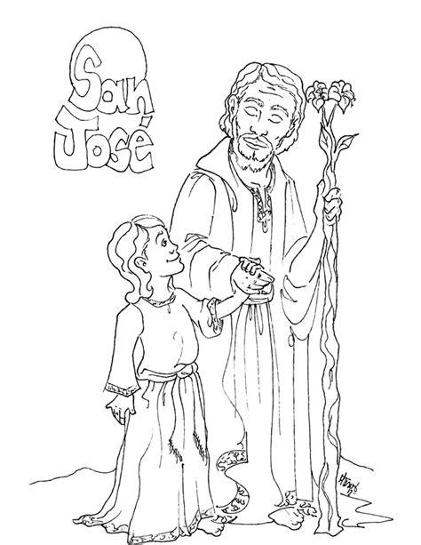 dibujos para colorear de san jose dibujos para catequesis evangelizaci 243 n cat 243 lica