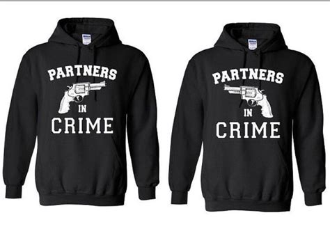 Sweater Partner In Cirme Custom partners in crime with gun couples or best by dimensionsclothing
