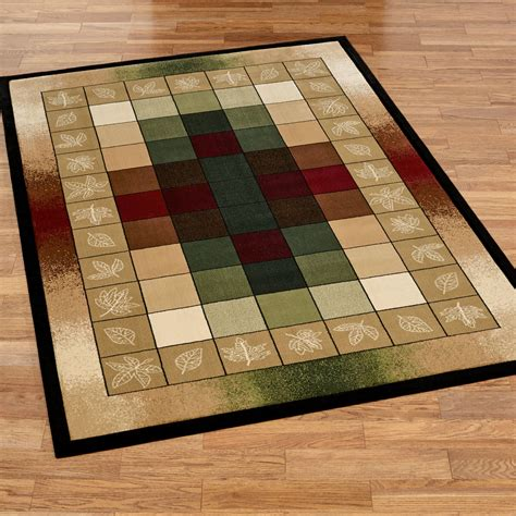 area rugs autumn crest multicolored block area rugs