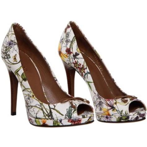 Gucci Floral Heels gucci floral heels chagne and heels