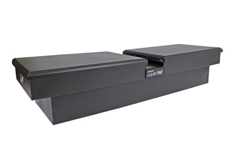 bed rail tool box new dee zee hardware series double lid gull wing tool box