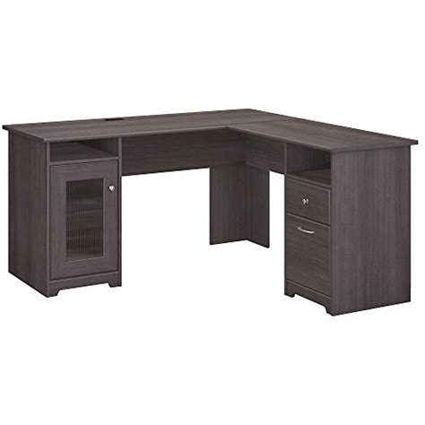 cabot l shaped desk cabot l shaped computer desk in heather gray import it all