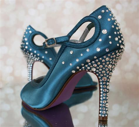 turquoise wedding shoes turquoise peep toe custom wedding shoes 2260807