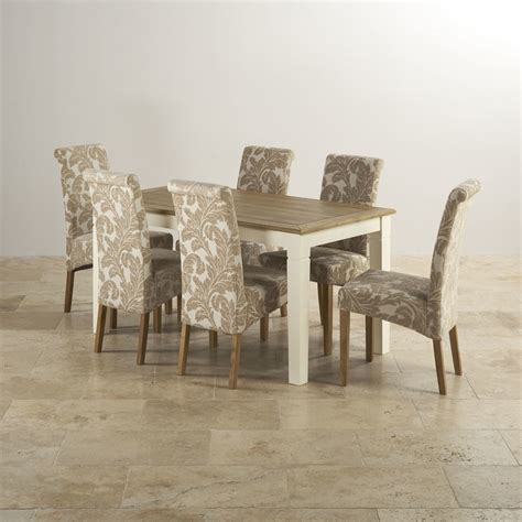 painted kitchen tables 100 oak and cream dining table and shutter cream painted 5ft dining table 6 beige patterned