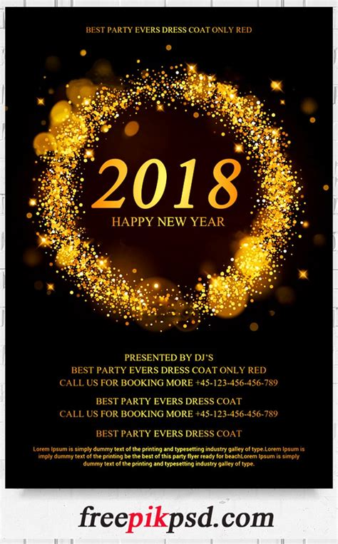 free new years flyer template free 2018 new year flyer psd template free pik psd