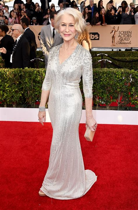 Fashion The Sag Awards Who Looked Great Who Not So Much Second City Style Fashion by Helen Mirren Sag Awards 2016 Carpet Fashion Best