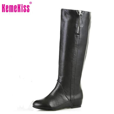 free shipping knee natrual real genuine leather high