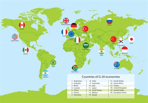 map world countries g20 countries world map vector free vector