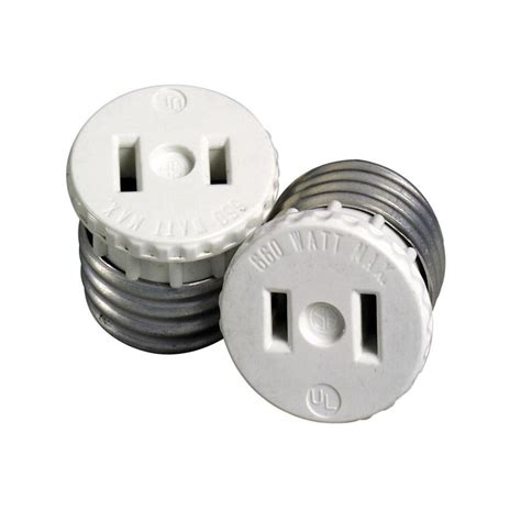 l holder to outlet adapter 660 watt l holder to outlet adapter white r54 00125