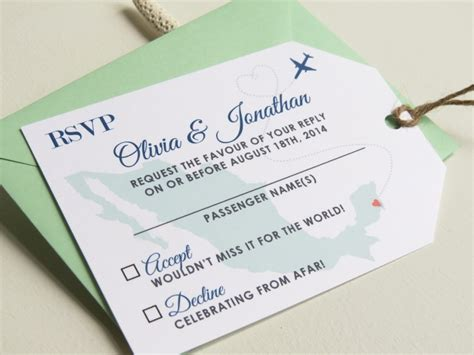 luggage tag invitation template custom card template 187 wedding rsvp cards template free